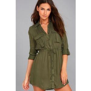 Jack BB Dakota Green Casey Utility Dress